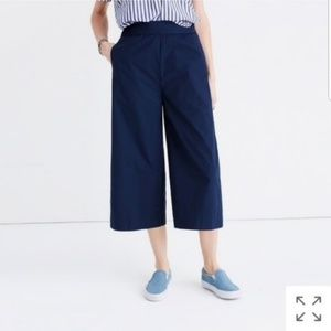 Madewell Navy Mayfield Culotte Wide Leg Pants